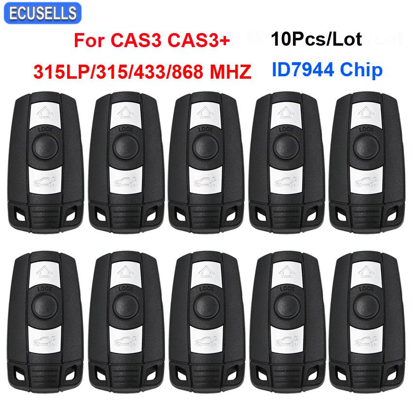 10 Pcs/Lot 3 Button Remote Smart Car Key 315LP MHZ 315MHZ 433MHZ 868MHZ ID7944 Chip for BMW 1 3 5 6 7 Series X5 X6 Z4 CAS3 CAS3+-in Car Key from Automobiles & Motorcycles    1