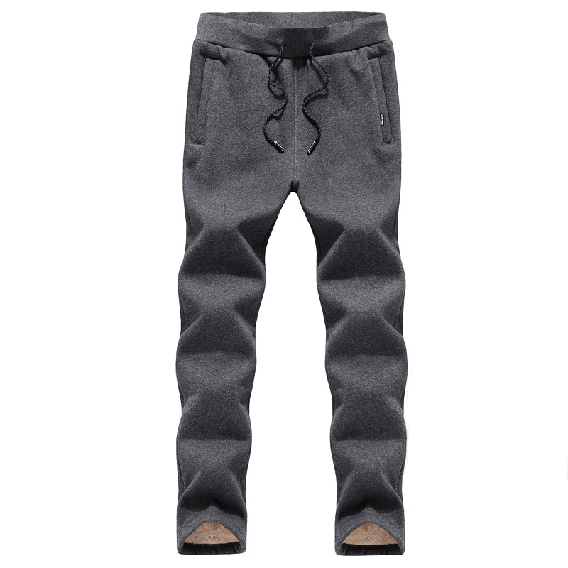 Hommes 2019 hiver garder au chaud pantalons de Sport épais velours pantalons de course coupe-vent grande taille pantalons de course formation pantalons de Sport