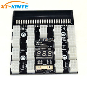 PCI-E 17x 6Pin Power Supply Breakout Board Adapter Converter 12V for Ethereum BTC Antminer Miner Mining HP Server PSU GPU(China)