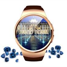 Лучшие Новый YEINDBOO KW18 Bluetooth Smart часы телефон полный Экран Поддержка sim-карта TF Smartwatch сердечного ритма для apple IOS huawei android