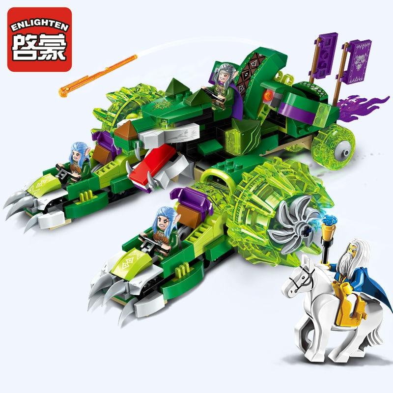 все цены на 392PCS Enlighten War of Glory Castle Knights Sirius Chariot 4 Figures Ultra Stealth Raider Model Building Kit Bricks Kids Toys онлайн