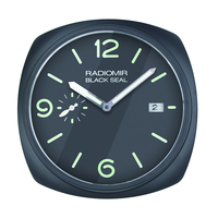 Top deisgn! watch shape wall clock wall watch with date for retail with logos