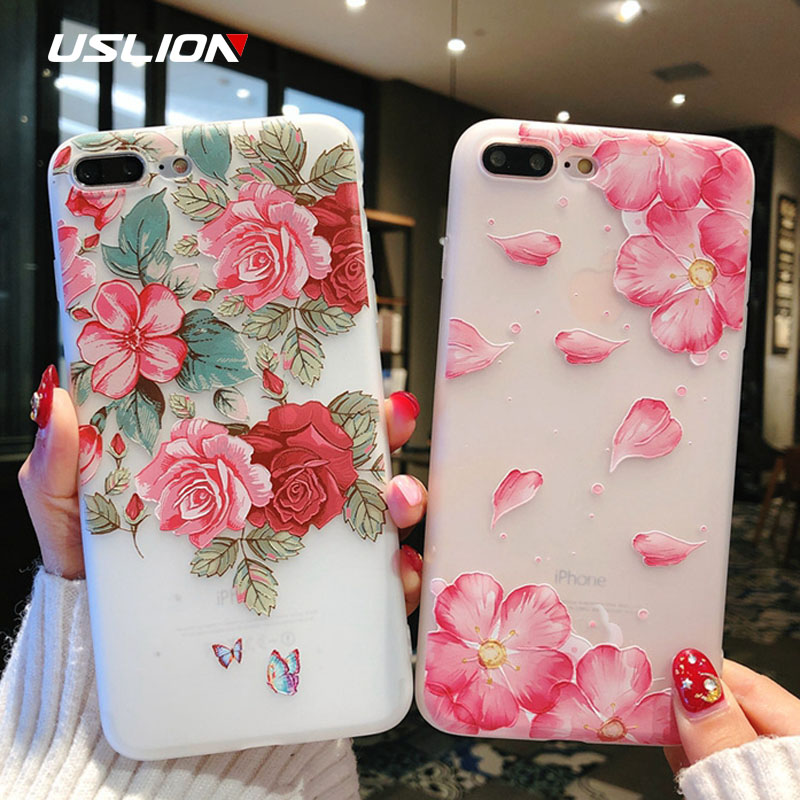 Clothes, Shoes & Accessories Inventive Ollivan 3d Relief Flowers Case For Iphone 7 Case Cover Silione Clear Soft Tpu Back Cover For Iphone X 8 7 6 S 6s Plus Fundas
