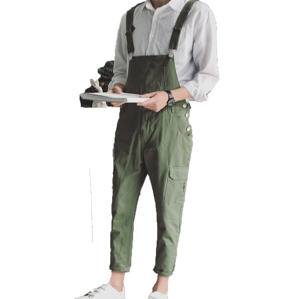 Male casual overalls Hip hop Male casual loose pants New arrival Army Green jumpsuits Me ...