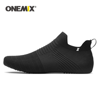 ONEMIX 2019 Casual Shoes Men Women Indoor Sock Yoga Shoe Knitted Breathable Lightweight Sandals Unisex Slip on Slippers Trainers