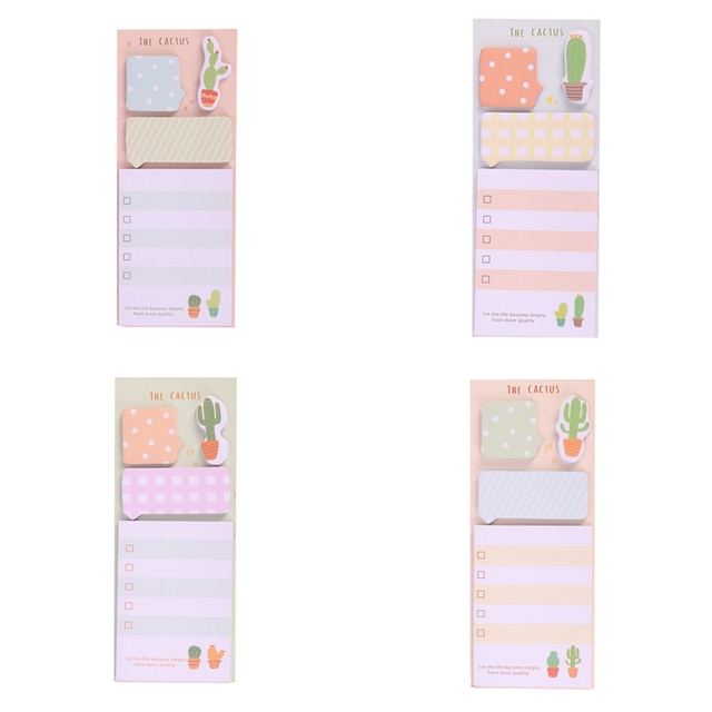 Cactus Sticky Note  Memo Paper Pad