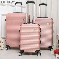 HOT 20/24/28 inch rolling bagage Sipnner wielen ABS + PC Vrouwen reizen koffer mannen mode cabine handbagage trolley doos bagage