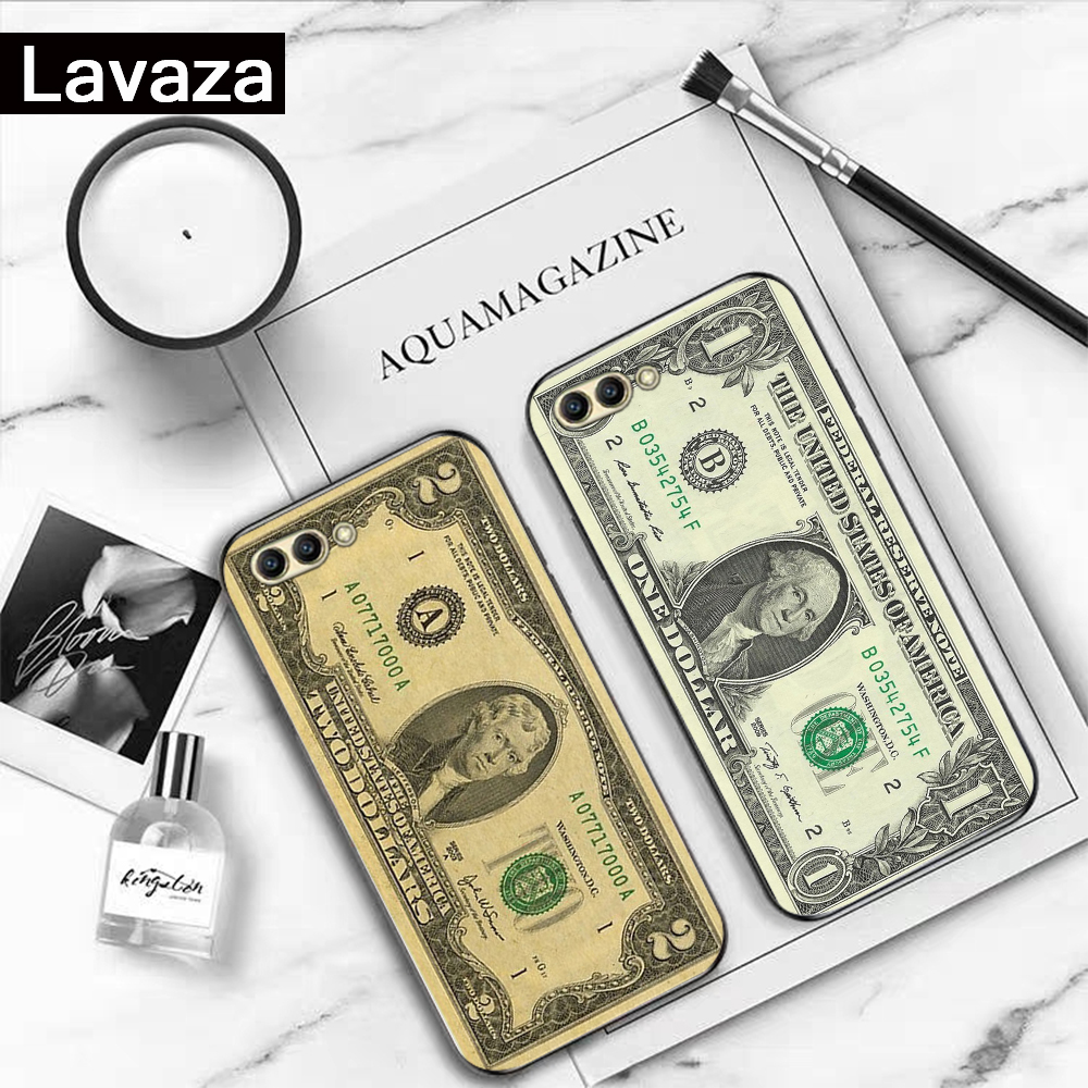 Lavaza Dollar Perfect Luxury Coque Silicone Case for Huawei Honor 6A 7A 3GB Pro 7X 8 Lite 8X 8C 9 Note 10View 20 9X in Fitted Cases from Cellphones Telecommunications