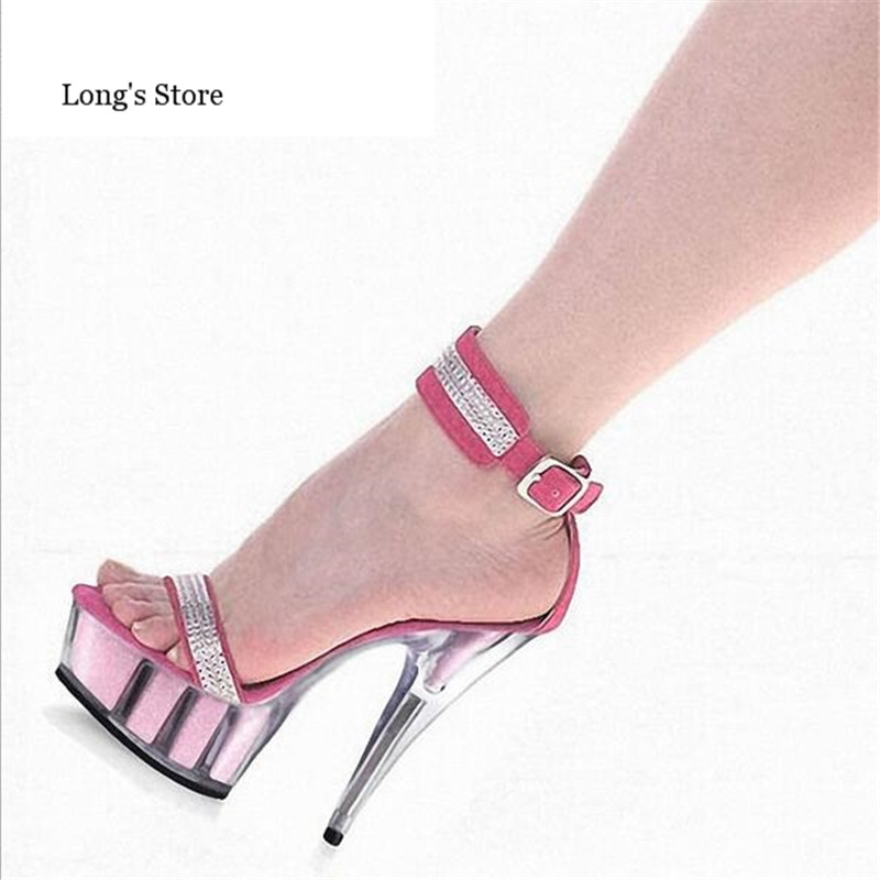 CDTS:35-45 46 SUMMER zapatos mujer Peep Toe sandals 15cm thin high heels Flowers crystal platform sexy woman shoes wedding pumps summer zapatos mujer peep toe 15cm thin high heels sandals crystal platform sexy woman shoes wedding dance shoes
