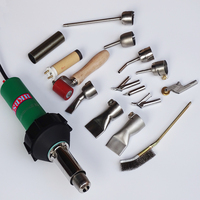 220V Or 110V Handheld Hot Air Welder Gun With 15pcs Of Accessories Free Shipping