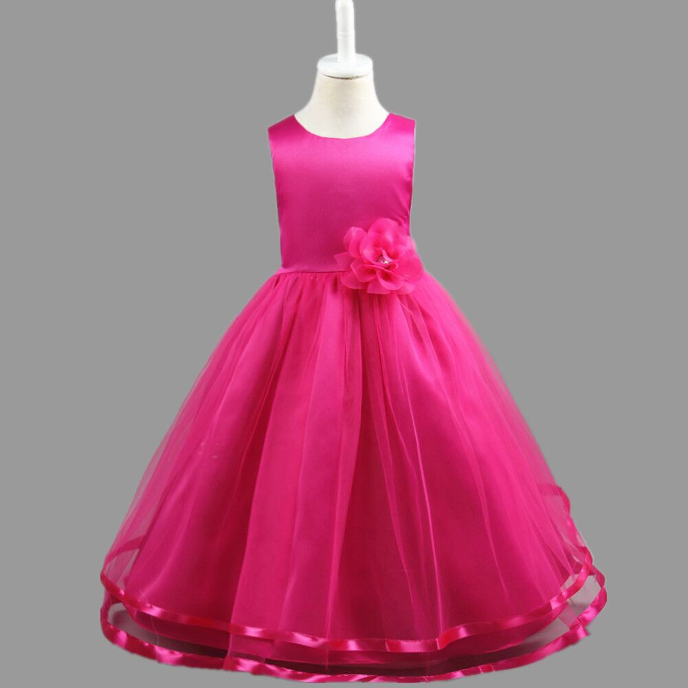 2019 new <font><b>Girls</b></font> Princess <font><b>Dress</b></font> children flowers <font><b>girl</b></font> Party <font><b>dresses</b></font> <font><b>Summer</b></font> Sleeveless Fashion Clothes <font><b>for</b></font> 4 6 8 10 <font><b>12</b></font> 14 <font><b>years</b></font> <font><b>old</b></font> image