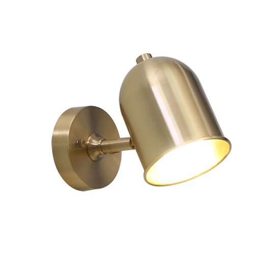 100% pure copper Cylinder hat wall light brass sconce lighting fixture LED brass wall lamp 14cm size copper horn shade lighting e27 all brass single head hanging light 100% pure copper material pendant lamp with white glass shade led bulb lighting fixture