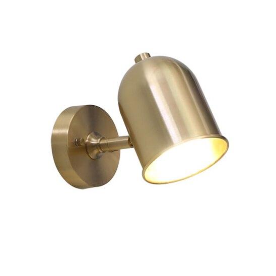 Işıklar ve Aydınlatma'ten LED İç Mekan Duvar Lambaları'de % 100% saf bakır Silindir şapka duvar lambası pirinç aplik aydınlatma armatürü LED pirinç duvar lambası 14 cm boyutu bakır boynuz gölge aydınlatma title=