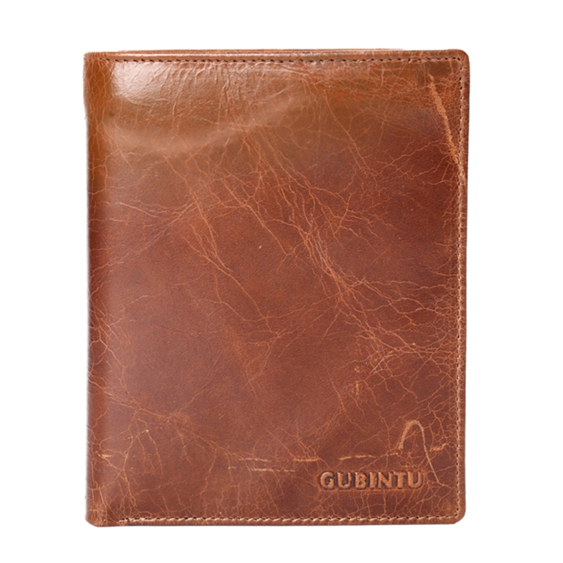 Vintage Genuine leather Passport Holder Card Wallet Business Credit Card Holder