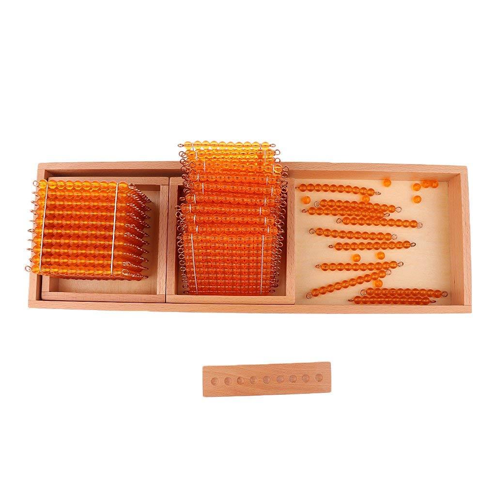 Ensemble de FBIL-1 jeu éducatif pour enfants Montessori mathématiques jouets d'apprentissage décimal-mille cent dix perles
