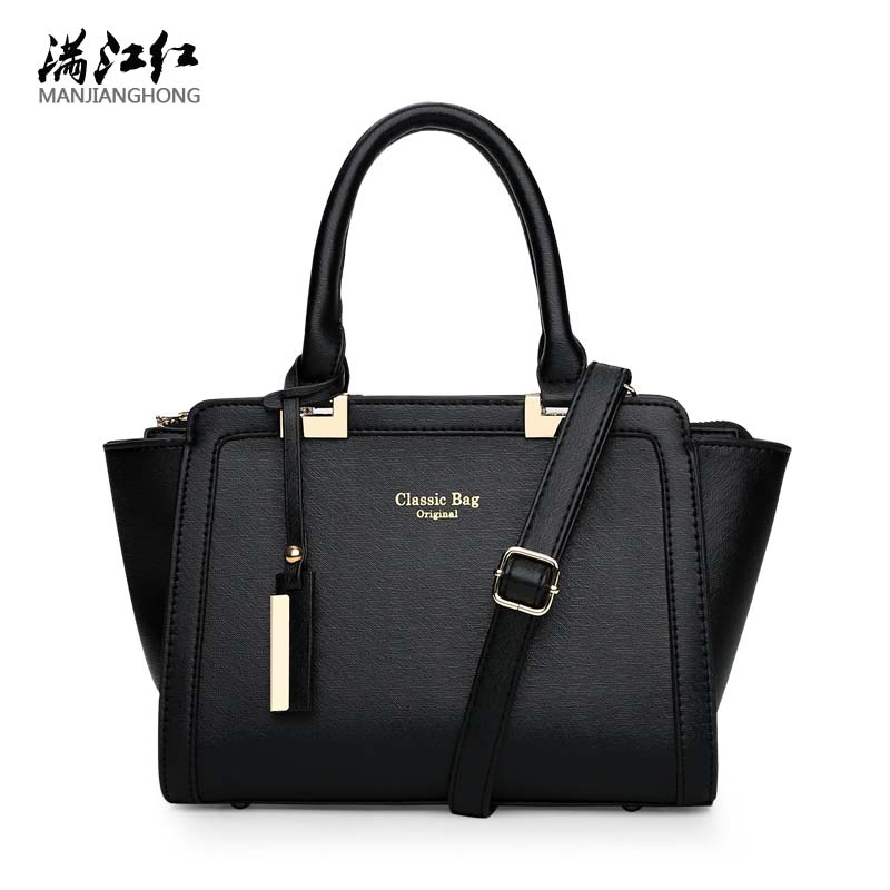 Fashion Vintag Split PU Leather Tote Bag Trapeze Shoulder Bag Women Messenger Bags Handbag Famous Brand Crossbody Bags For Women aosbos fashion portable insulated canvas lunch bag thermal food picnic lunch bags for women kids men cooler lunch box bag tote