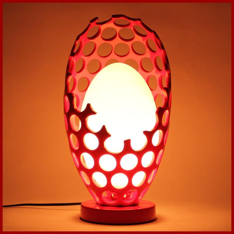 Китайский искусство смолы свадебный подарок глаз гнездо полые Малый просто прикроватные спальни исследование настольная лампа LO864