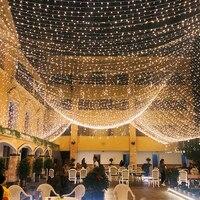 10 м светодиодная гирлянда, Рождественская елка, волшебная световая цепочка, водонепроницаемая, для дома, сада, свадьбы, вечеринки, уличного ...