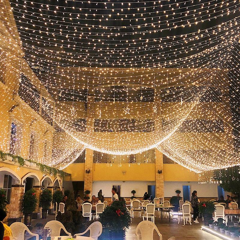 10m Led guirlande guirlande arbre de noël fée lumière chaîne étanche maison jardin mariage fête en plein air vacances décoration