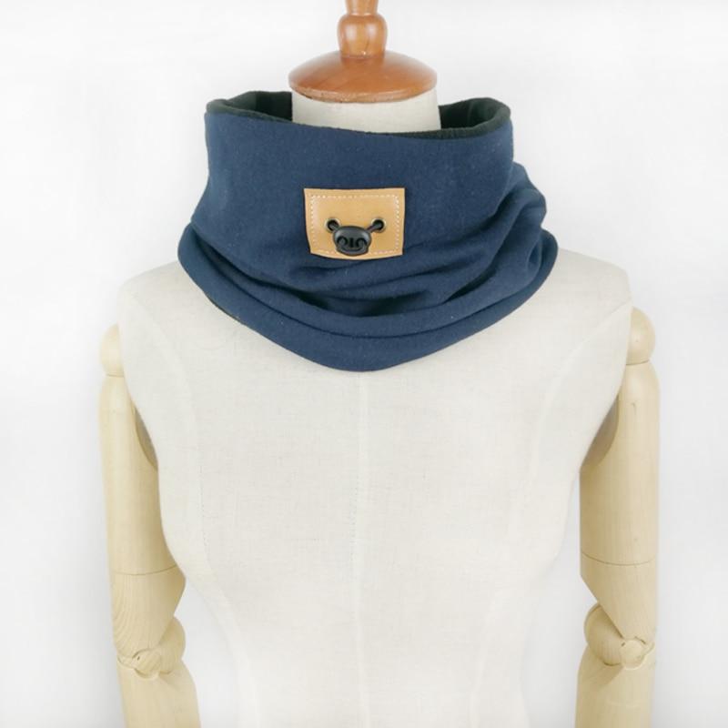 Leo anvi brand design chunky hombres capucha gruesa Caliente bufanda ...