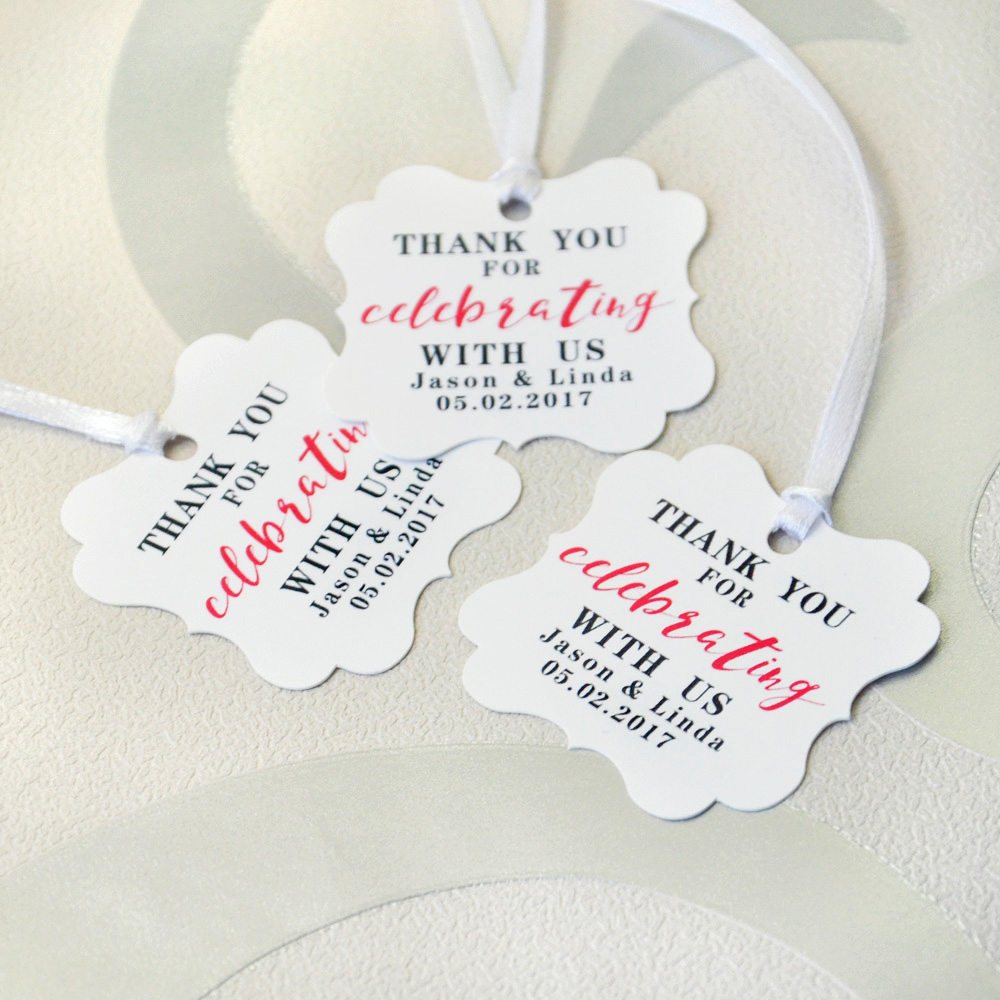 Custom Wedding Tags Wedding Favor Tags Personalized Wedding Gift Tag ...