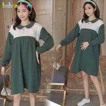 9dc69b00b Primavera otoño embarazo ropa mujeres vestido de moda coreana manga larga  más tamaño Maternidad desgaste Vestidos ropa embarazad.