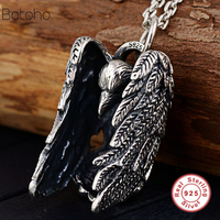 925 Sterling Silver Eagle Pendants for Women Men Accessories Vintage Gift Thai Silver Jewelry Without a Chain charm Pendant 2019