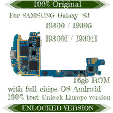 Placa base Original 100% para Samsung Galaxy S3 i9300/i9305/I9300I/I9301I placa base desbloqueada con Chips placa lógica 16 GB(China)