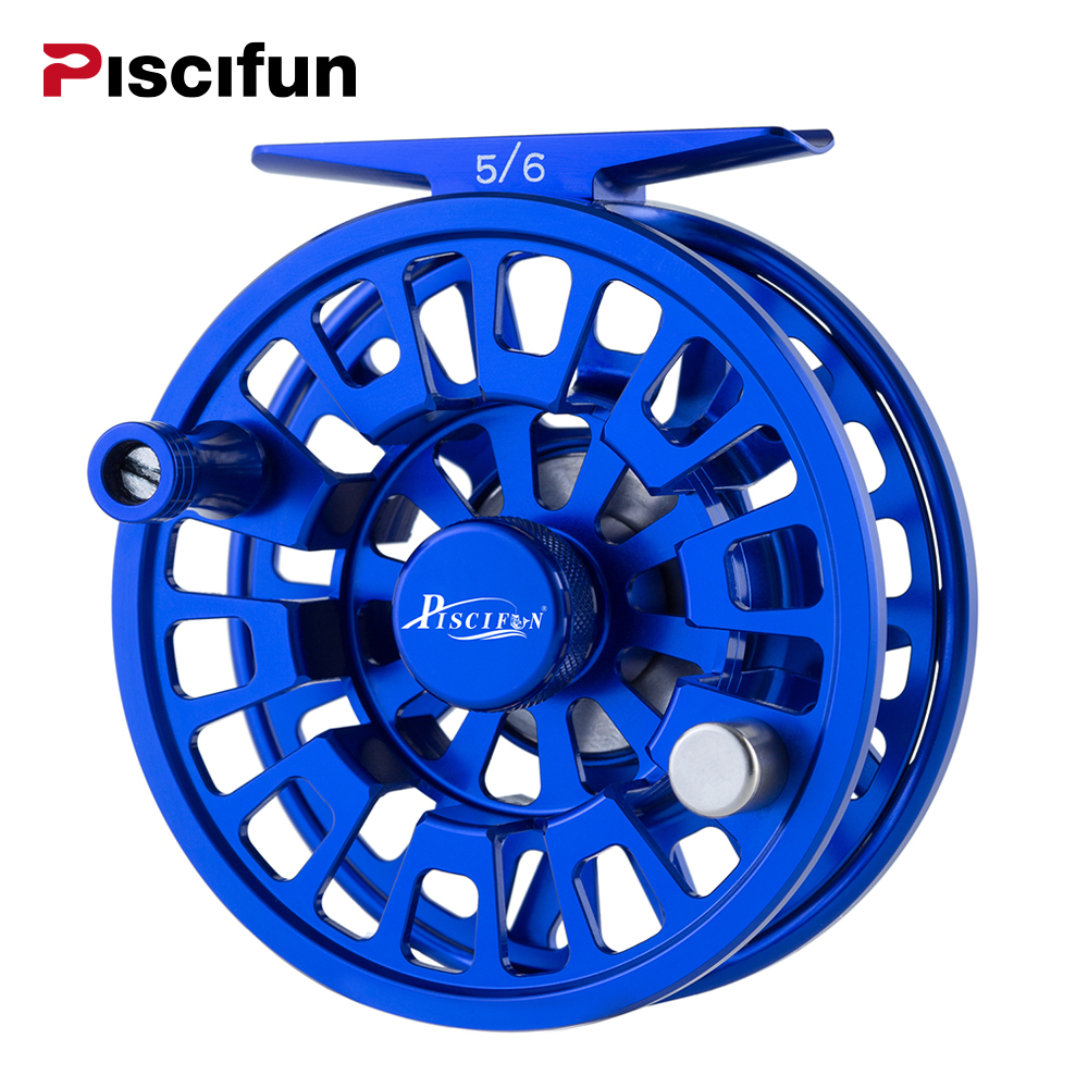 Piscifun Blaze Fly Reel 3/4 5/6 7/8 9/10 wt Fly Fishing Reels with CNC Aluminum Body and Mid Arbor piscifun fly fishing reel platte 3 4 5 6 7 8 9 10 wt cnc machine cut fishing reel large arbor aluminum fly reel302 327 365