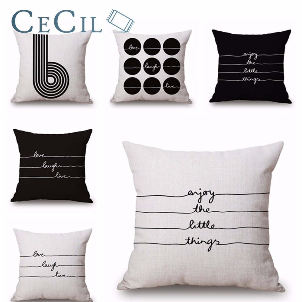Cojines Nordicos Us 4 33 Letter Ecg Pattern Covers For Cushions Modern Cojines Nordicos Cushion Cover Pillow Case Sofa Seat Home Decoration Cushions In Cushion Cover