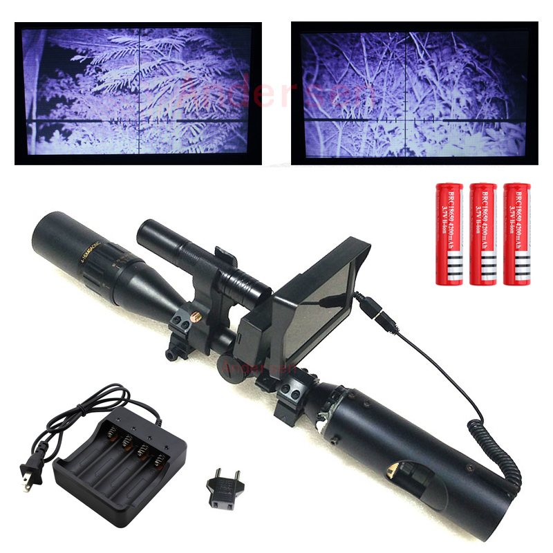 Hot Best Outdoor Hunting optics sight Tactical digital Infrared night vision riflescope with Battery Monitor and Flashlight