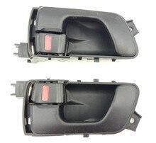Um par interior do carro porta alças dentro interior botão da porta para mitsubishi shogun pinin 1999 2005 pajero/montero io/h60w/h70w 01/9