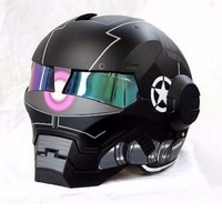 MASEI 610 IRONMAN Motorcycle Helmet 2 Corolla Black Casque Motocross Half Helmet Personality Open Face Helmet