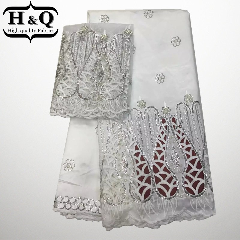 Christmas Latest popular designs 5 Yards Nigerian Lace Fabric high quality indian silk George lace fabric