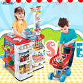 New arrival 4 types children Toy Supermarket Checkout Puzzle Food Vegetable Cart Toys Supermarket Cash Register Toy best gift
