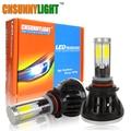 LED 9006/HB4 9005/HB3 COB Car Headlight Bulbs 80W 8000Lm DC 8V~30V 360 Degree DRL Fog Light Sourcing 3000K 5000K 6000K 8000K