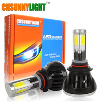 LED 9006 HB4 9005 HB3 COB Car Headlight Bulbs 80W 8000Lm DC 8V 30V 360 Degree