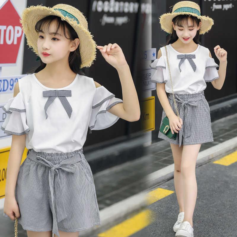 4a8e72cb9b494 Summer Dress New Fashionable Suit 12 Year Old Big Boy Costume 15 Junior  High School Students Fashion Style 10 Girls Tidal
