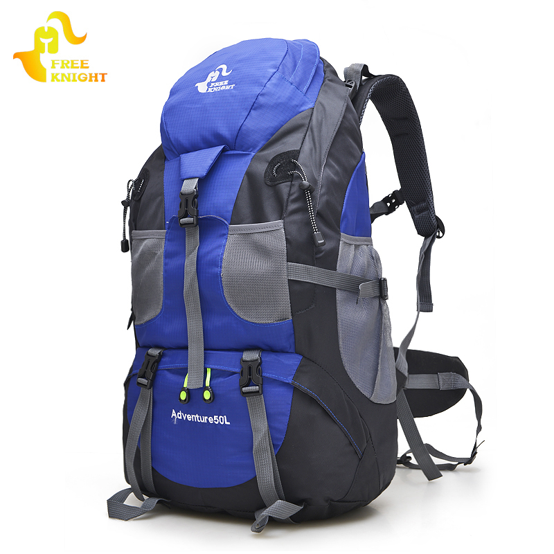 Free Knight 50L Outdoor Hiking Bag,5 Colors Waterproof Tourist Travel Mountain Backpack,Trekking Camping Climbing Sport Bags free knight hiking backpack 50l waterproof sports bag multifunctional outdoor bags camping hunting travel treck mochila backpack