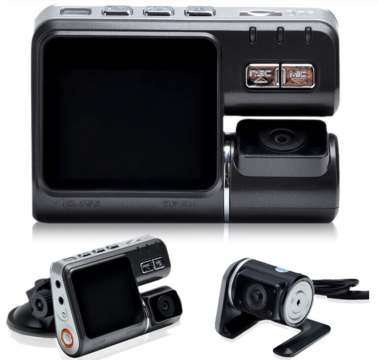 I1000 Car DVR Dual Lens Camcorder HD 1080P Dash Cam Rear View Camera Car Black Box DVR Dual Camera Allwinner Car DVR ixdd604sia gate dvr 4a dual enable 8soic 604 ixdd604 50pcs