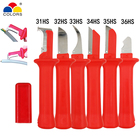 COLORS 6 kinds cable stripper knife german style 440c blade pvc handle Stripping the scope of diameter of 50mm below hand tools