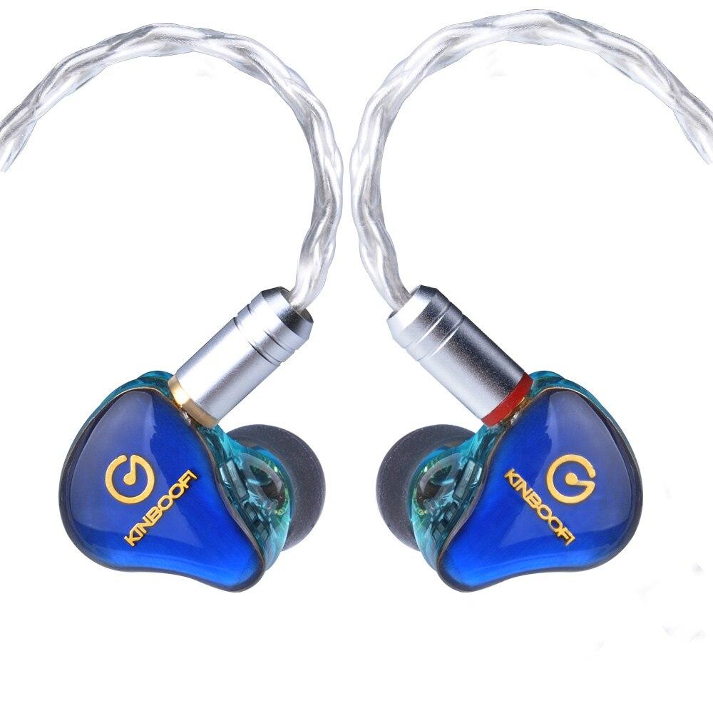 где купить AK KINBOOFI MK4 4BA Balanced Armature In Ear Earphone HIFI Monitoring Earphone Detachable MMCX Cable with Cooper facepanel дешево