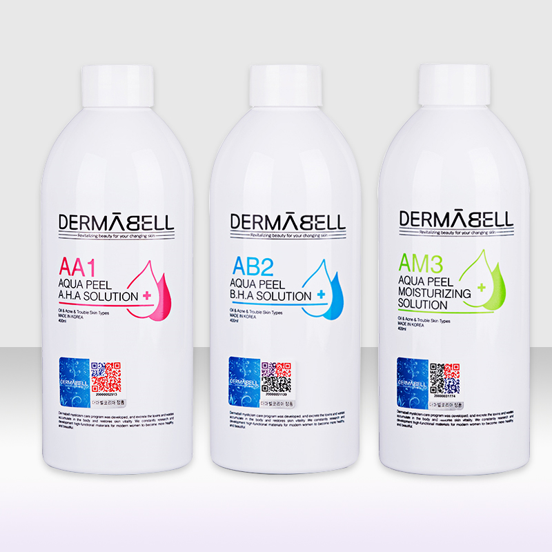 DERMABELL Aqua Peeling Solution AA1 AB2 AM3 400ml Per Bottle Aqua Facial Serum Hydra Facial Serum For Normal Skin