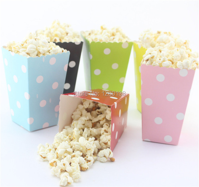 720pcs Event Party Supplies Popcorn Bags Candy Color Polka Dot Baby Shower Wedding Bo