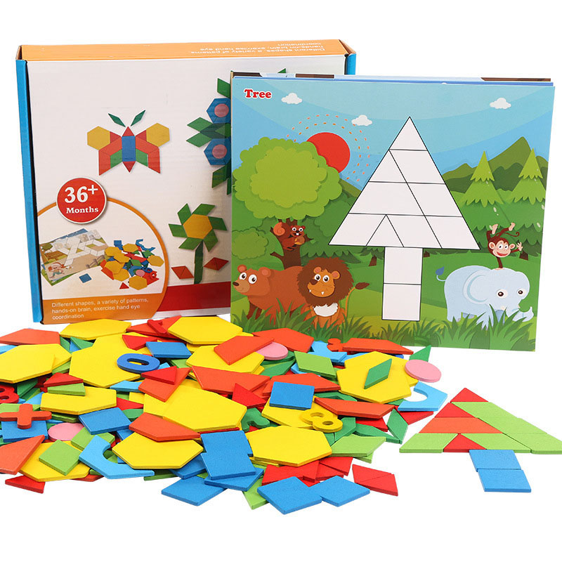 250 Piece Color Changed Diy Jigsaw Puzzle Jigsaw Toys Baby Montessori Wooden Puzzle Toys Learning Educational Toys For Children