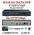 Saída de Max 4 K H.265 Multi Language 4MP 4CH CCTV 8CH NVR 5MP Câmera IP H.264 ONVIF NVR Para H.265 2.0 Wifi RS485 PTZ Onvif P2P