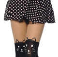 New Fashion Black Eiffel Tower Cat Tail Patchwork Totoro Velvet Tattoo Women Tights Pantyhose Sexy Thin ST01