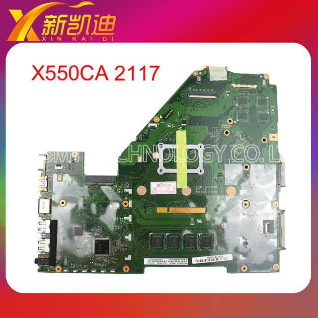 Para asus x550ca motehrboard x550cc rev2.0 integrado 2117 cpu portátil 100% de prueba antes del envío
