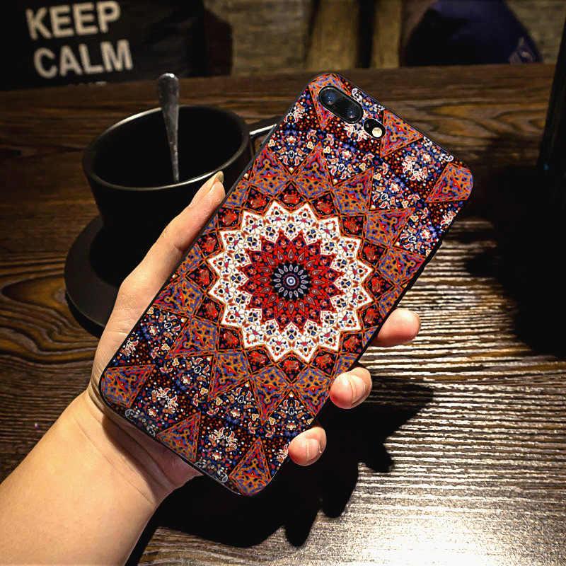 MaiYaCa Mandala Zon Bloem Datura Retro Flora Nieuwe Collectie Telefoon COVER Case voor iPhone 8 7 6 6 S Plus XS MAX XR 5 S 5C case Coque