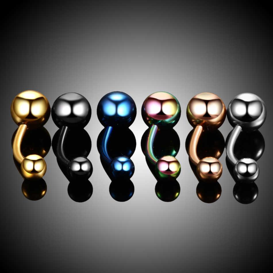 1PC Acciaio Inox Piercing Ombligo Del Ventre PiercingsNavel Piercing Belly Button Piercing Ciondola Gli Orecchini Piercing nombril Monili per il corpo e Piercing